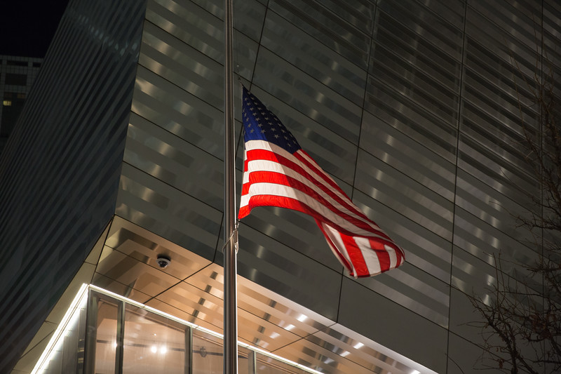 Flag at 9/11 Museum