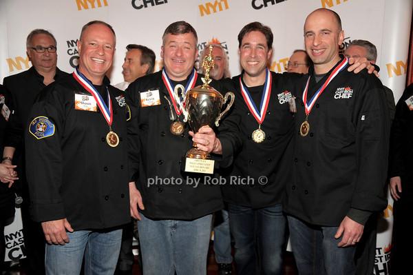 Shaun McKee,  Kevin Levrecht, Mike Marino, Jeff Dobe  (Old Brookville PD - 1st place winning team) photo by Rob Rich/SocietyAllure.com © 2014 robwayne1@aol.com 516-676-3939