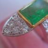 4.05ct Emerald and Old European Cut Diamond Ring 15