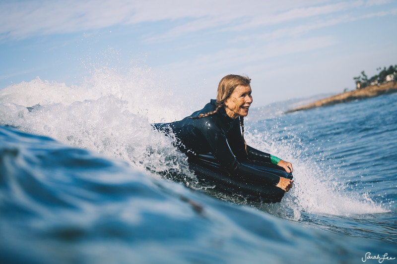 Cher Pendarvis surfing an airmat