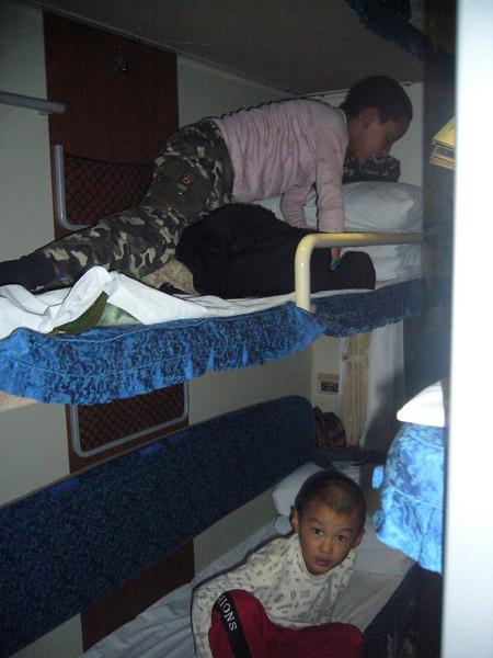 getting comfy.. Qinghai -Beijing to Tibet Railway, Beijing to Lhasa  Oct  2006