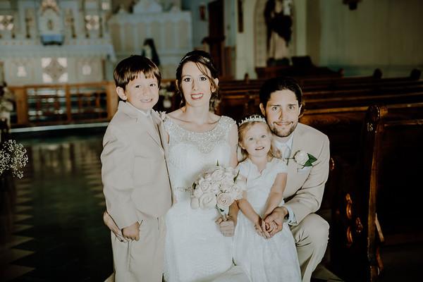 Family Inside Church