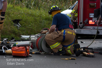 08-05-2012, MVC With Entrapment, Harrison Twp. Gloucester County, Mullica Hill Rd. and Sherwin Rd.