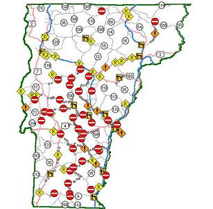 Hurricane Irene: damage in Vermont