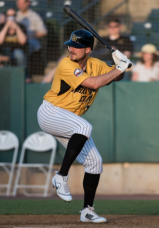 06/29/18 Wesley Bunnell | Staff The New Britain Bees were defeated 6-4 by the Southern Maryland Blue Crabs. Brock Stassi (11).