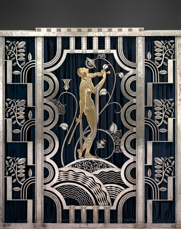 . �Muse With Violin Screen,� designed by Hungarian Paul Feher, was made by Rose Iron Works in Cleveland. It is included in �The Jazz Age: American Style in the 1920s� at the Cleveland Museum of Art. The exhibit continues through Jan. 14. For more information, visit www.clevelandart.org. (Courtesy of the Cleveland Museum of Art)