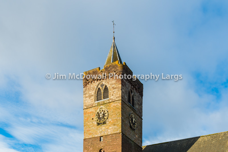 Dunblane Cathedral Clock Tower.
