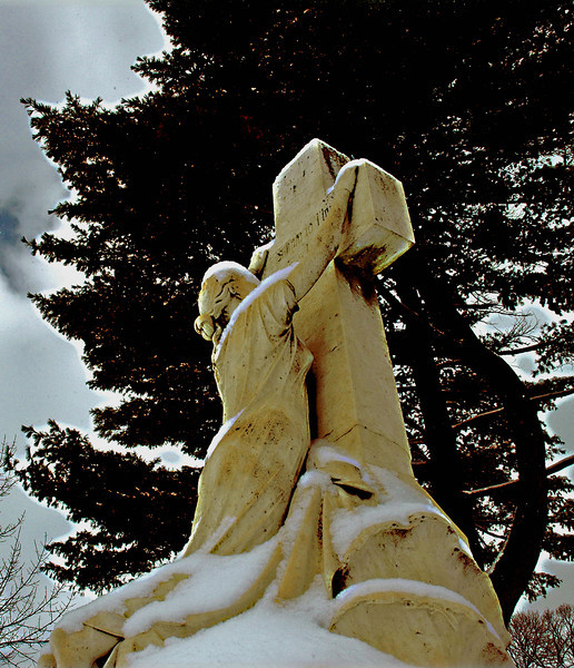Woman at the Cross in the winter .jpg