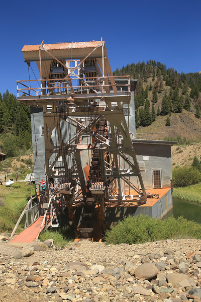 This gold mining dredge was in service on Yankee Fork Creek in the late 1940s and early 1950s.  East of Stanley, Idaho.