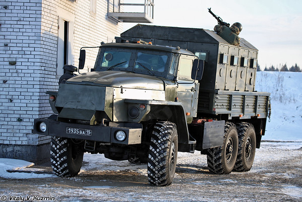 Armored Ural-4320 Zvezda-V from 604th Special Purpose Center of Internal troops