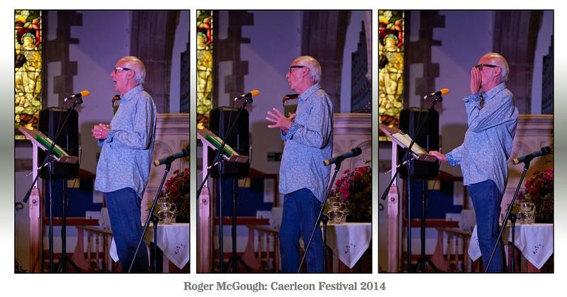Poet Roger McGough @ Caerleon Festival in 2014