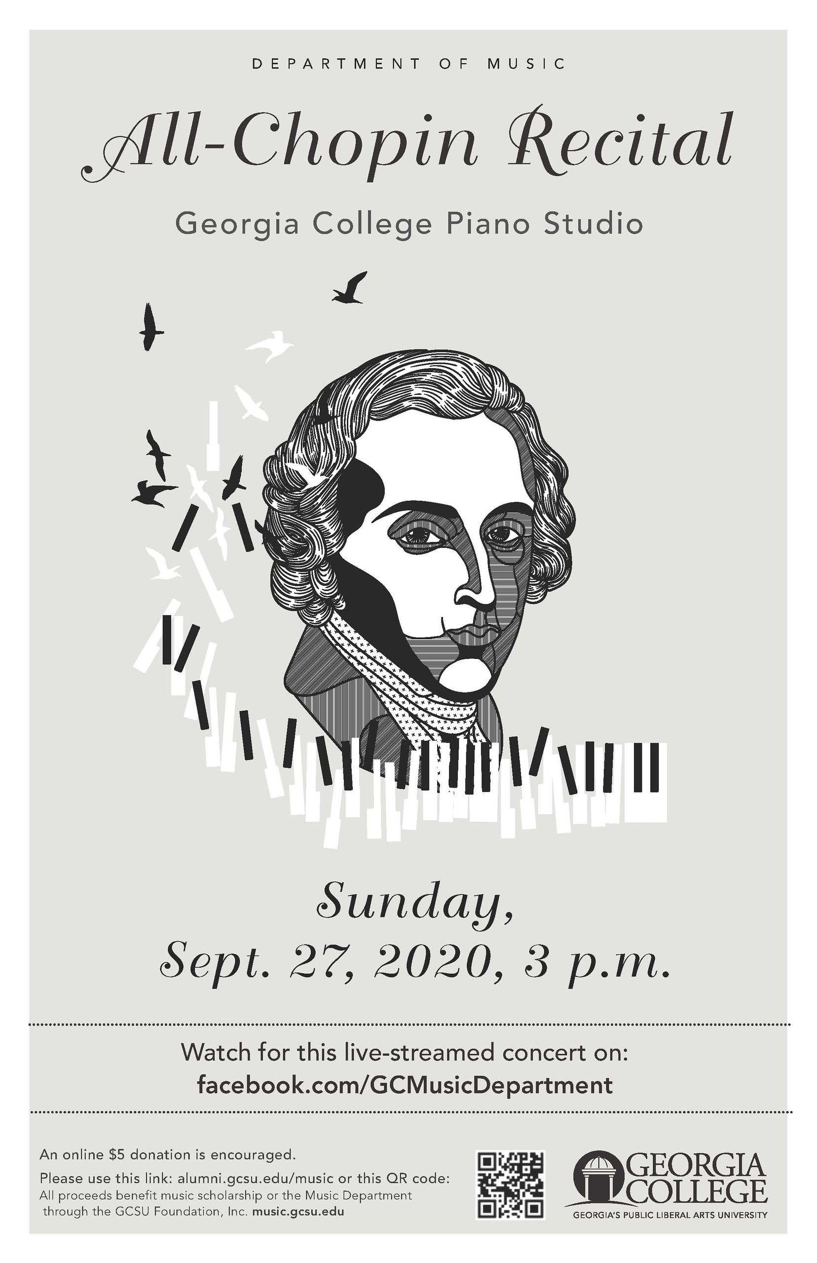 Please join us Sunday afternoon, 3:00 pm, at facebook.com/GCMusicDepartment for this recital.