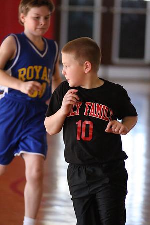 Holy Family Hawks 4th Grade versus St. Elizabeth Royals Basketball 1/31/09