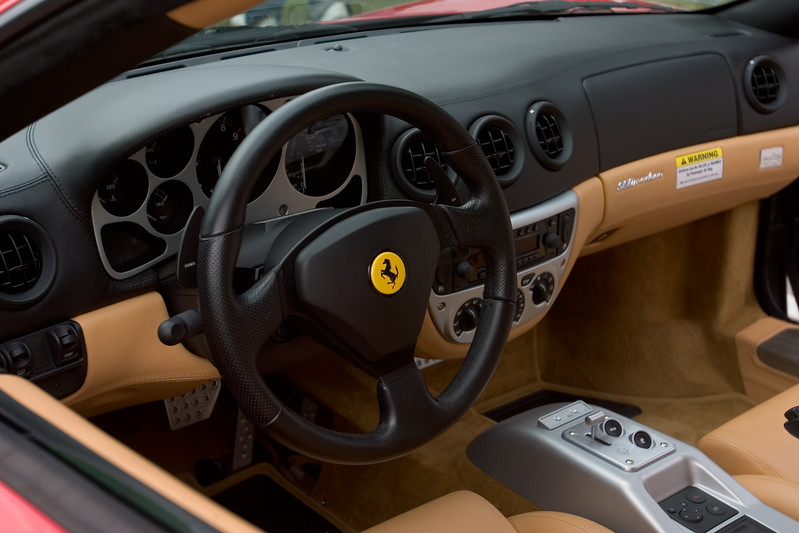 I'm not sure if I'd like driving with F1-style paddle shifters...perhaps Justin will let me take her for a spin
