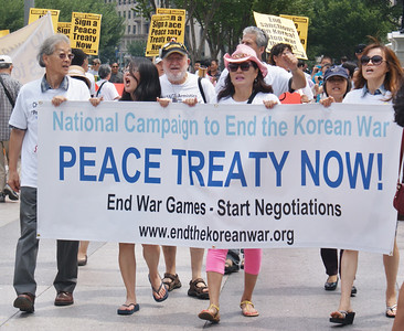 Korean War Peace Treaty Demonstration - Washington DC 7/27/13