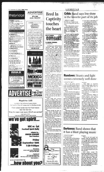 Daily Trojan, Vol. 150, No. 23, September 26, 2003