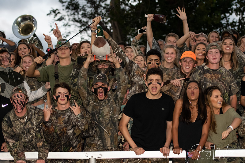 9-28-18 HVA vs Jeff Co Student Section and post game