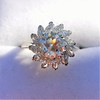 2.87ctw old European Cut Diamond Spray Ring GIA J SI1 21