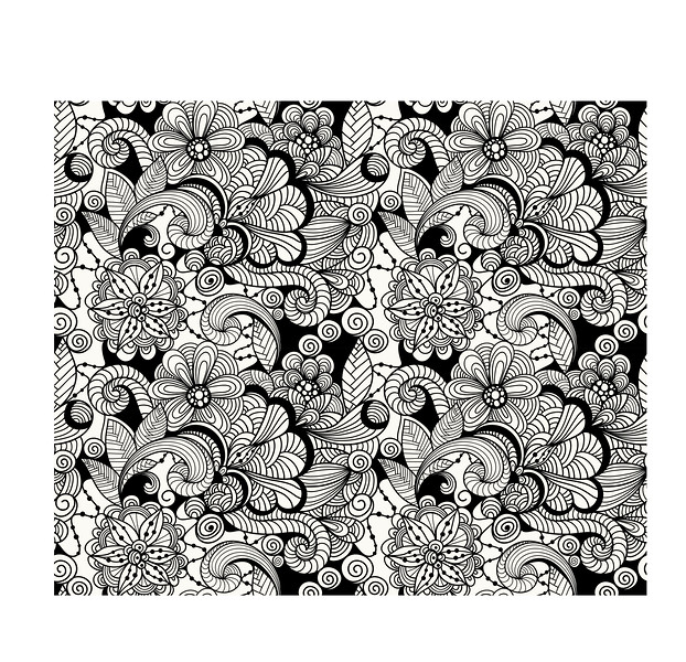 Vector Seamless Doodle Floral Pattern