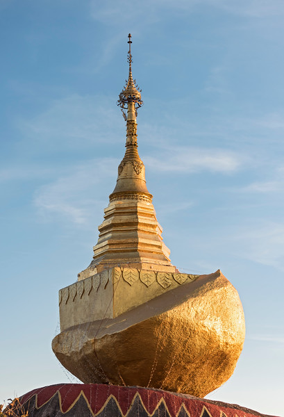 Kyaukthanban Stupa on Mt. Kyaiktiyo, Burma, Myanmar
