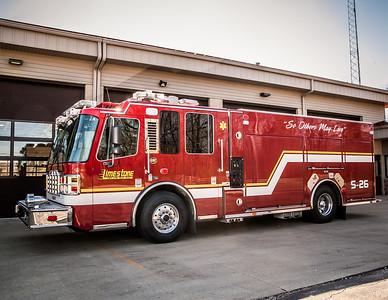 Limestone FD ~ Engine, Squad, & Ambulance plus Helmets