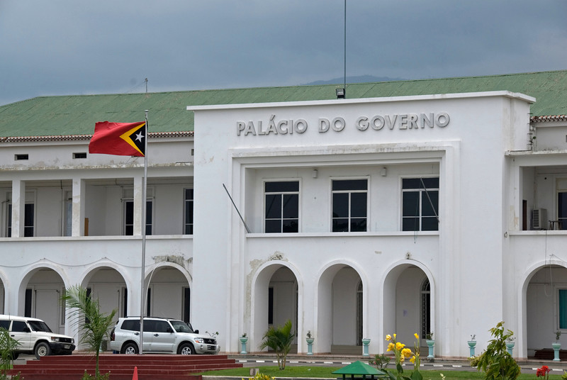Sign in front of the Government Palace in Dili, East Timor