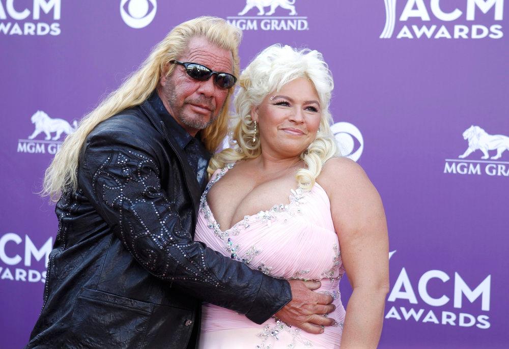 . Duane and Beth Chapman arrive at the 48th ACM Awards in Las Vegas, April 7, 2013.   REUTERS/Steve Marcus