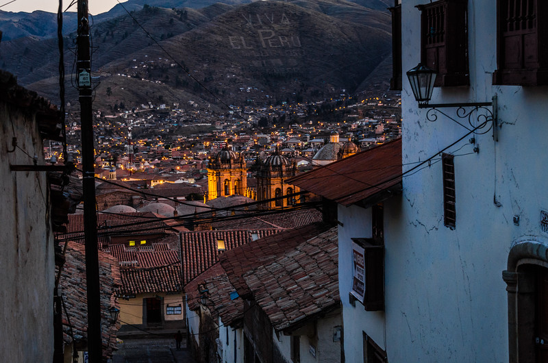 View of cityscape with cusco cathedral - Cusco - Peru