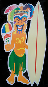 I'm sure that this guy has special meaning but for me he was just a colorful painting on the entrance door.