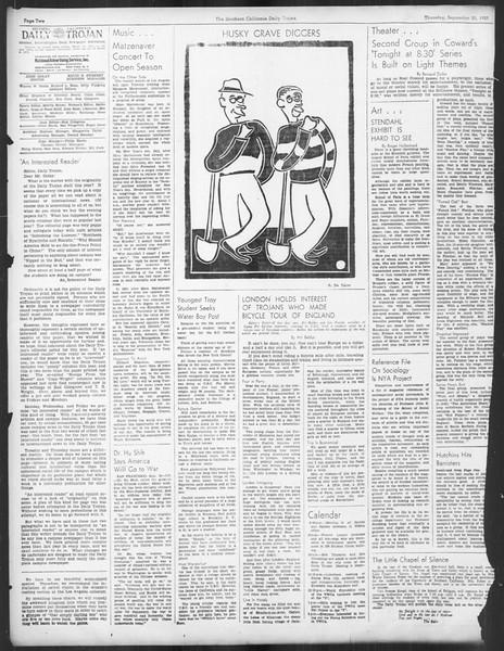 Daily Trojan, Vol. 29, No. 10, September 30, 1937