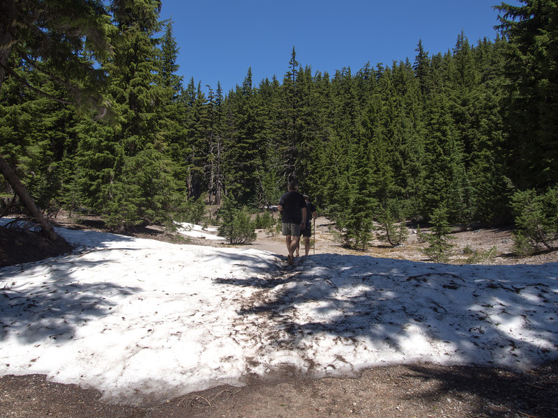 barefoot on the hot but snowy trail