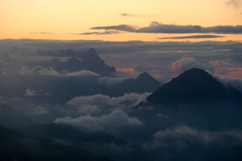 Evening sky from Velan hut