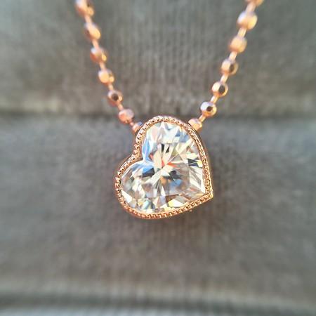 .45ct Heart Diamond Bezel Pendant