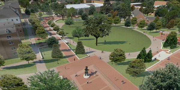 Cruz Plaza plans and construction