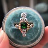 1.01ctw Victorian Emerald (syn) and Diamond Dinner Ring 27
