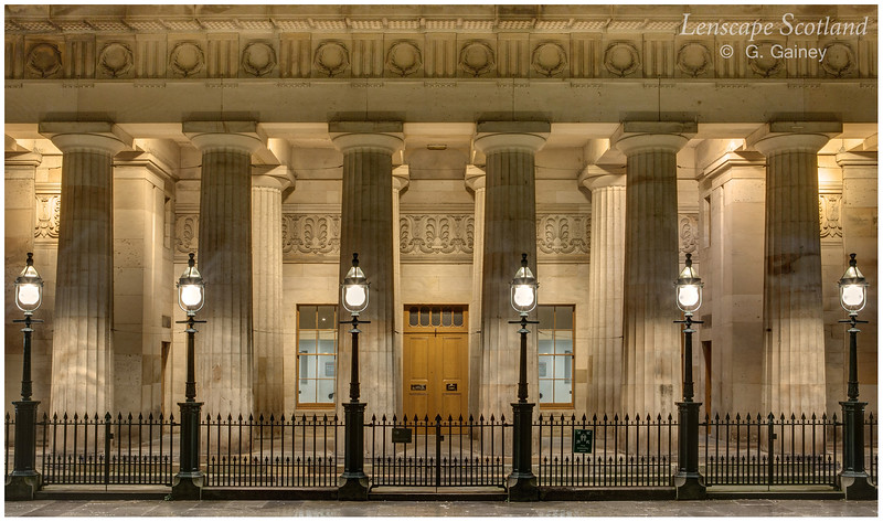 Royal Scottish Academy columns and lamps (1)