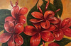 """Tropical Flowers-Marcoux, 24""""x36"""" painting on unframed paper"""