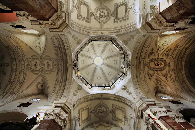 ceiling of University Church, Innsbruck.