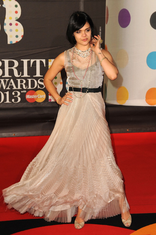 . Natasha Khan of Bat For Lashes attends the Brit Awards 2013 at the 02 Arena on February 20, 2013 in London, England.  (Photo by Eamonn McCormack/Getty Images)