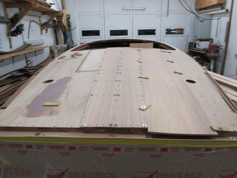 Fitting the new rear deck planks.