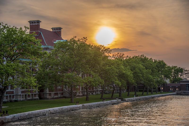 Ellis Island at Sun Set