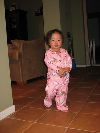 December 6, 2008 - Wearing Xmas PJs