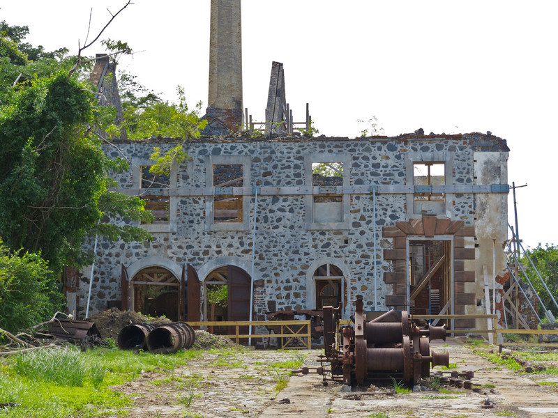 Building at the Creque Marine Railway, Hassel Island, St Thomas