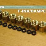 SKU: F-INK/DAMPER/N3, 8 Solvent Resistant Negative Pressure Transparent Ink Dampers with Φ4 Ink Pipe Connector for DX5/XP600