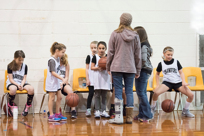 Crawford Girls 3rd and 4th Grade Basketball Game 1-7-2017