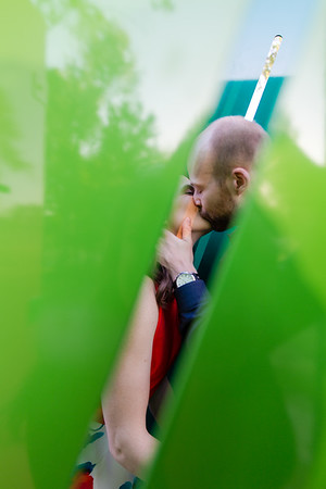 Katie & Zach | An Intimate Spring Engagement at the North Carolina Museum of Art
