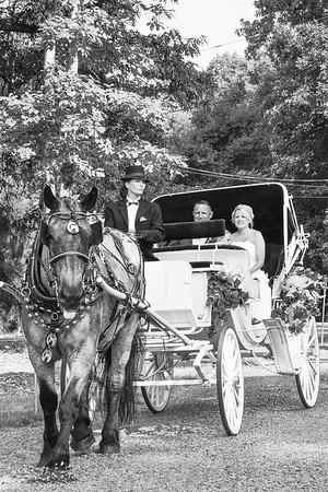The Wedding Carriage - Black & White