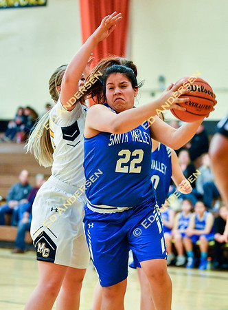January 22, 2019; Smith Valley v. Mineral County, Girls Basketball
