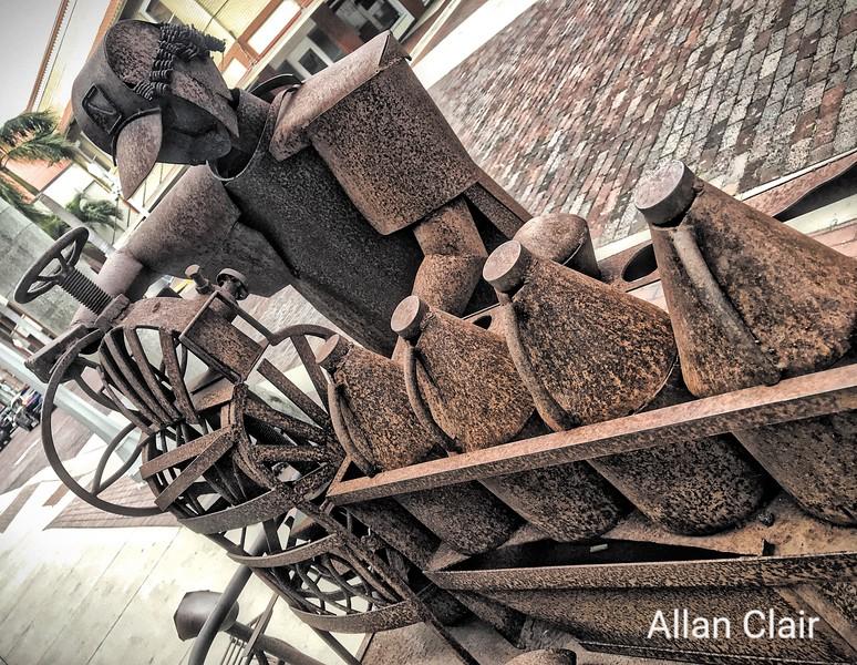 Iron Art Edgardo Carmona, Downtown, Fort Myers, Florida