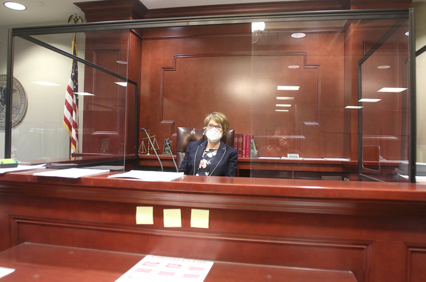 032521 Judge Robbin Stuckert gives tour of safe courtroom